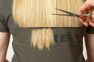 стрижка секущихся волос