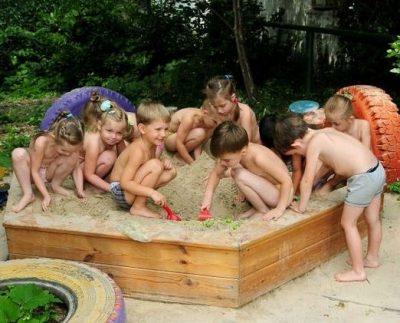 на солнце дети
