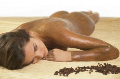 Кофейное обертывание ног