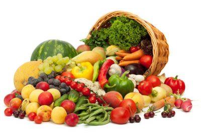 Летние ягоды и овощи