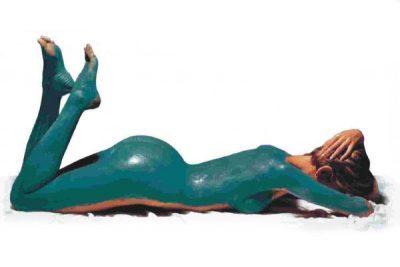 Антицеллюлитная маска из голубой глины