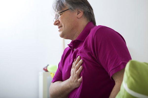Больв груди
