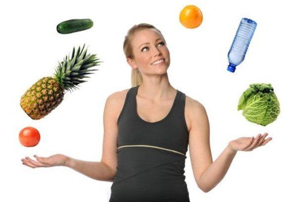 фрукты овощи вода