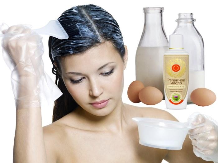 восстановление волос репейное масло