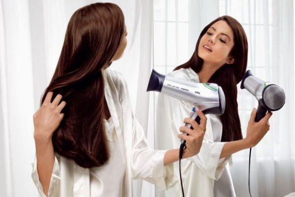 Укладка волос фен лак