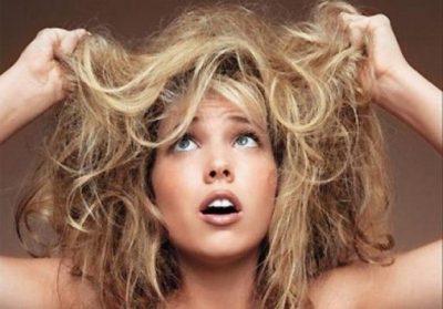 Волосы спутанные сухие