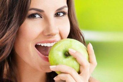 Зубы яблоко